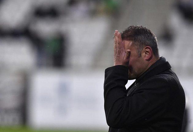 Trenér Brna Svatopluk Habanec po inkasovaném prvním gólu.