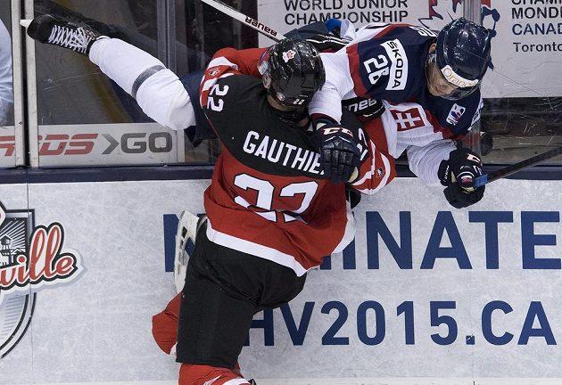 Kanaďan Fredrik Gauthier se s Christianem Jarošem nemazlil.