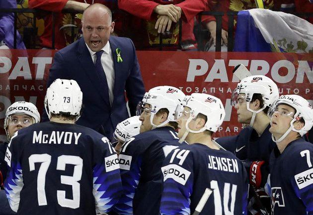Hoši, máme problém. Kouč amerických hokejistů Jeff Blashill si musel vzít v semifinále se Švédskem oddechový čas, když soupeř během tří minut vstřelil tři góly.