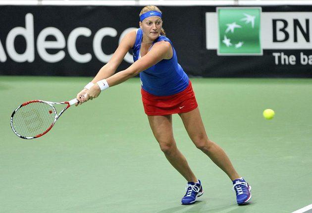 Petra Kvitová přidala proti Italkám druhý bod.