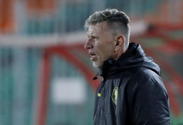 Trenér českého týmu Jaroslav Šilhavý při utkání s Běloruskem.