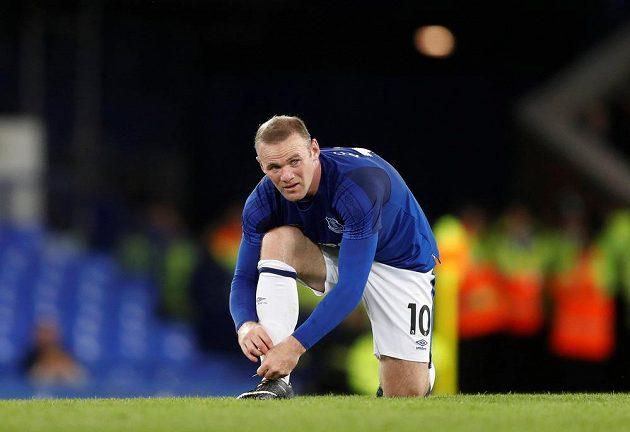 Útočník Wayne Rooney a jeho návrat na Goodison Park v utkání Evropské ligy. Hvězda podle médií moc nezářila, stadión ani nebyl vyprodaný.