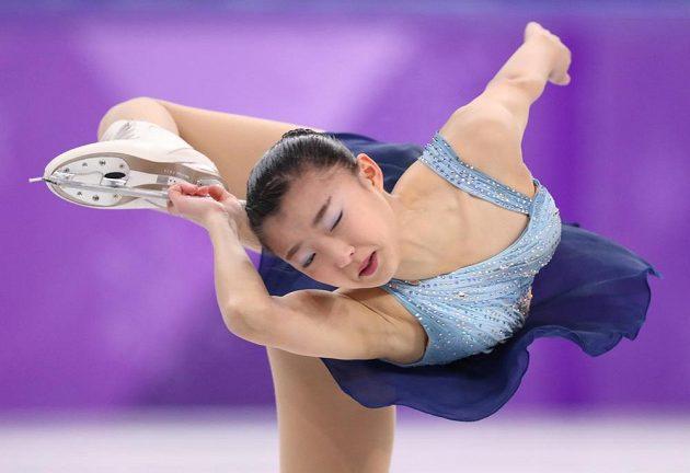 Japonka Kaori Sakamotová předvedla na olympiádě parádní krátký program, dostala hodnocení 73,18.