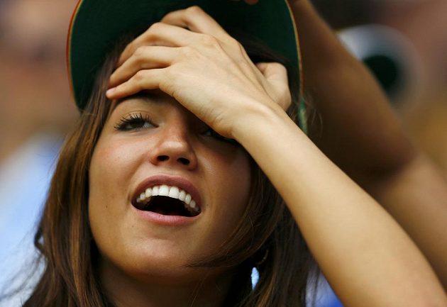 Tahle mexická fanynka byla z výkonu El Tri nadšená.