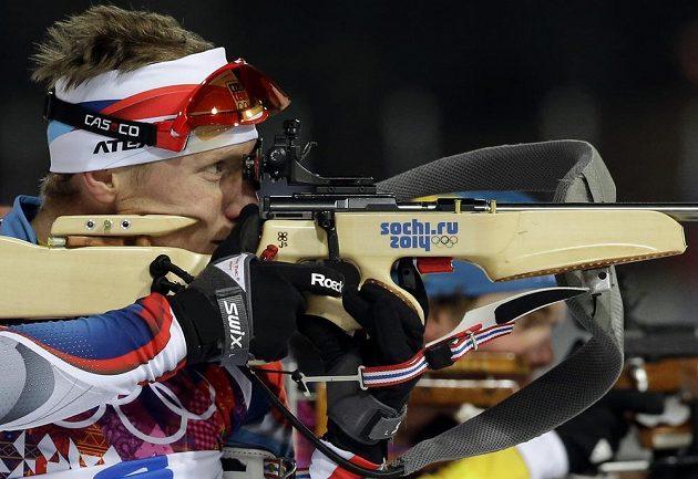 Biatlonista Ondřej Moravec byl při střelbě ve stíhacím závodu na 12,5 kilometru bezchybný.