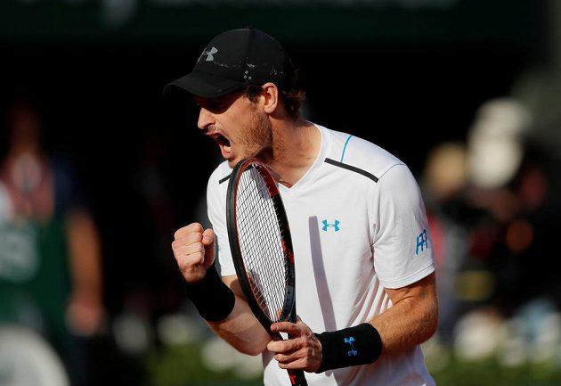 Po postupu do semifinále French Open měl Andy Murray velkou radost.