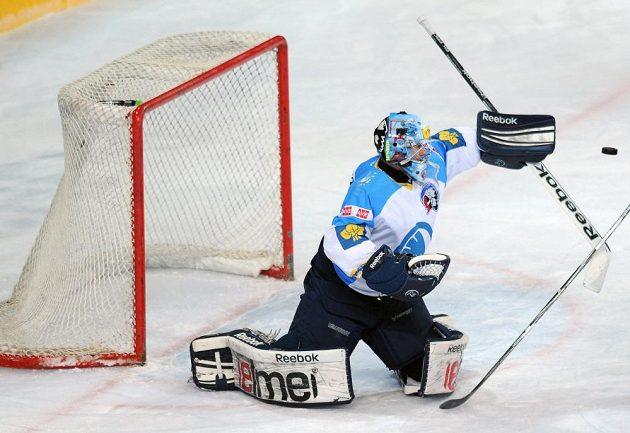 Plzeňský brankář Marek Mazanec v utkání proti pražské Spartě.
