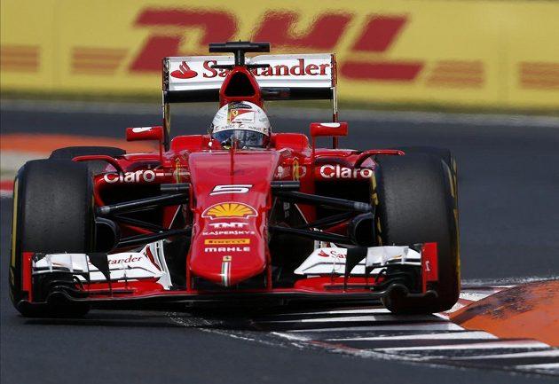 Sebastian Vettel na Ferrari triumfoval ve Velké ceně Maďarska.