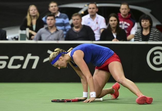 Petra Kvitová (na snímku) s Marií Šarapovovou z Ruska prohrála.