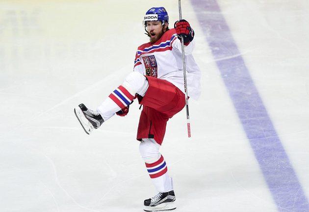 Lukáš Kašpar se raduje ze čtvrtého českého gólu proti Norům.