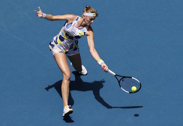 Petra Kvitová při čtvrtfinále s Australankou Ashleigh Bartyovou.