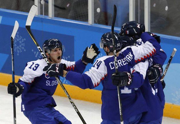 Slovenská radost v utkání s OSR na olympiádě.