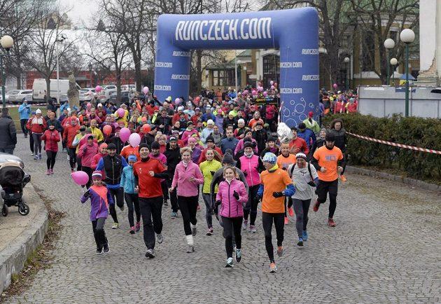 Valentýnský běh Stromovkou, který proběhl v sobotu 14. února.