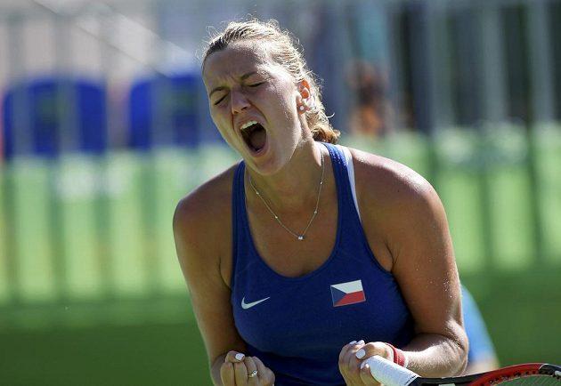 Obrovská radost v tváři Petry Kvitové.