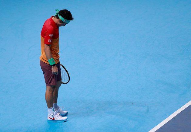 Kei Nišikori ve svém dalším zápase zcela vyhořel