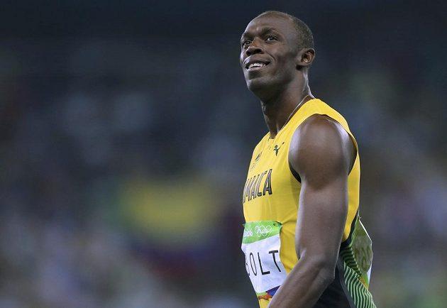 Spokojený jamajský sprinter Usain Bolt.