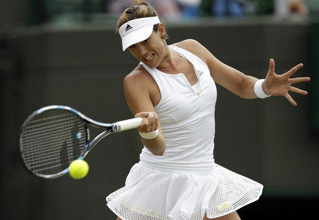 Španělka Garbiňe Muguruzaová je první finalistkou ženské dvouhry letošního Wimbledonu.