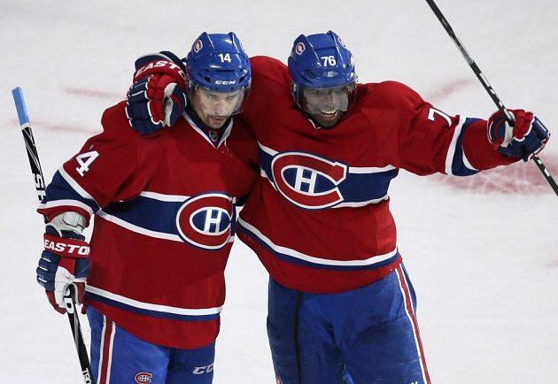 Plekanec a jeho decentní výraz při oslavě gólu, kterým zvyšoval na 2:0 pro Canadiens.