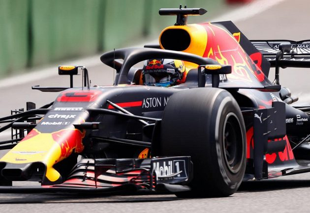 Daniel Ricciardo při Velké ceně Německa.