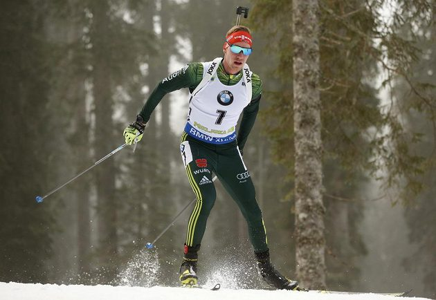 Německý biatlonista Johannes Kühn zvládl skvěle vytrvalostní závod ve slovinské Pokljuce.