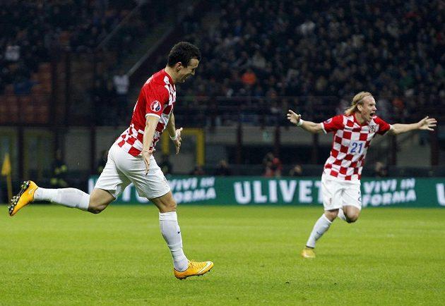 Euforie Chorvatů po vstřelené brance.