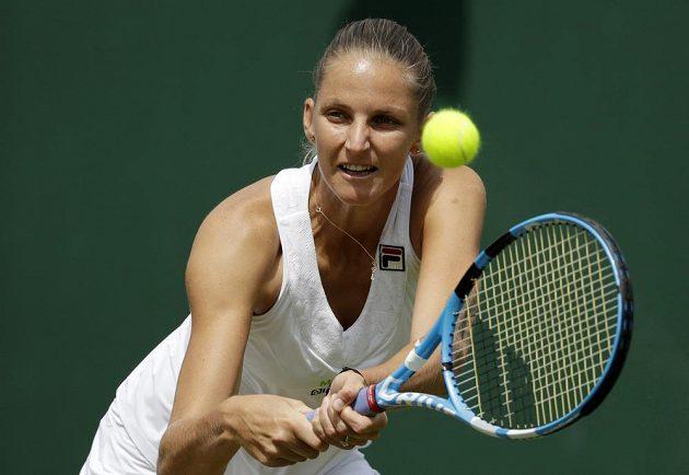 Česká tenistka Karolína Plíšková bojuje o postup do čtvrtfinále Wimbledonu.