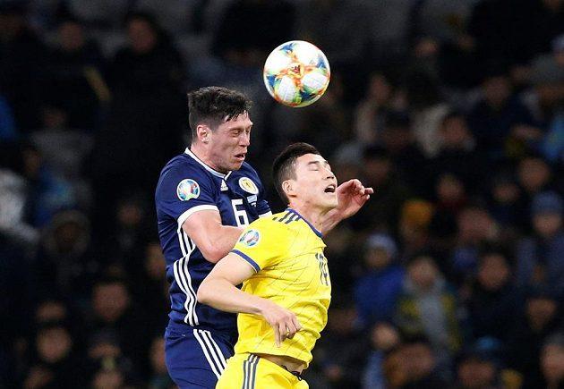 Fotbalisté Kazachstánu v úvodu kvalifikace o postup na EURO 2020 doma překvapivě porazili Skotsko 3:0.