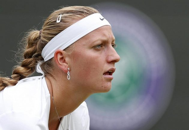 Petra Kvitová na letošním Wimbledonu.