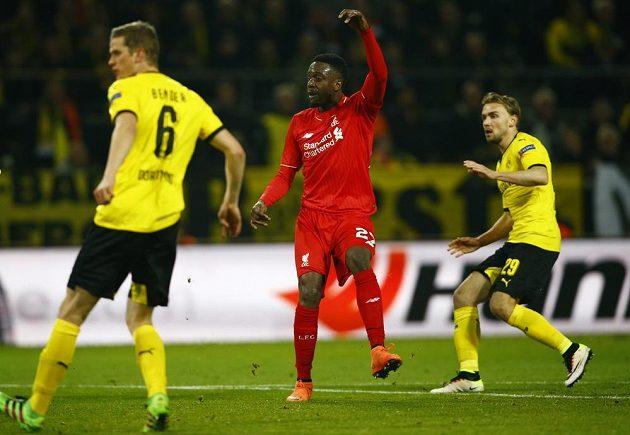 Útočník Divock Origi, střelec úvodního gólu Liverpoolu na hřišti Borussie Dortmund.