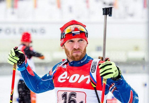 Michal Šlesingr při štafetě v Ruhpoldingu