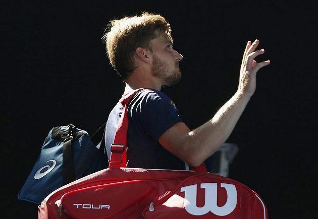 Belgický tenista David Goffin.
