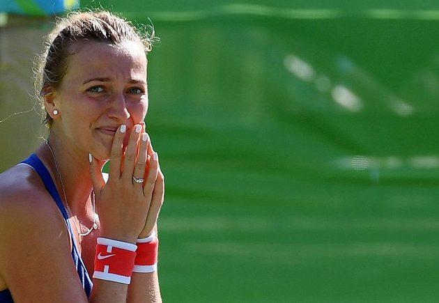 Petra Kvitová se po zápase o bronz skoro rozplakala. Bronzovou medaili z OH jí už nikdo nevezme.