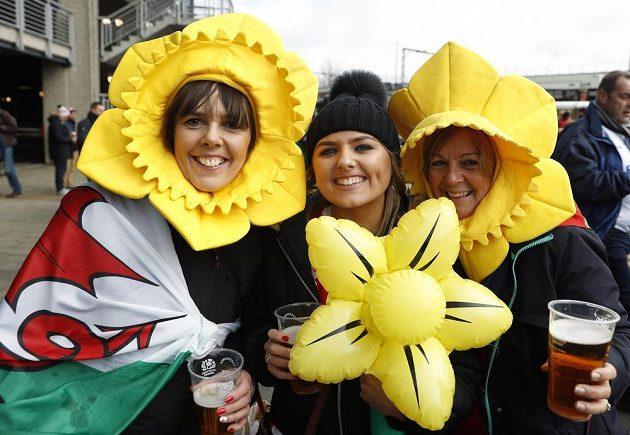 Jsme holky jako květ! A fandíme Walesu...
