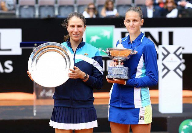 Finalistky turnaje v Římě Karolína Plíšková a Johanna Kontaová