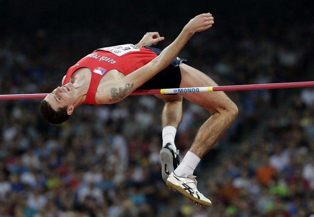 Český skokan do výšky Jaroslav Bába při závodě na mistrovství světa v atletice v Pekingu.