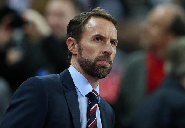 Kouč Angličanů Gareth Southgate před utkáním s ČR.