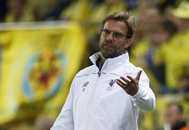 Trenér Liverpoolu Jürgen Klopp během úvodního semifinále Evropské ligy s Villarrealem.