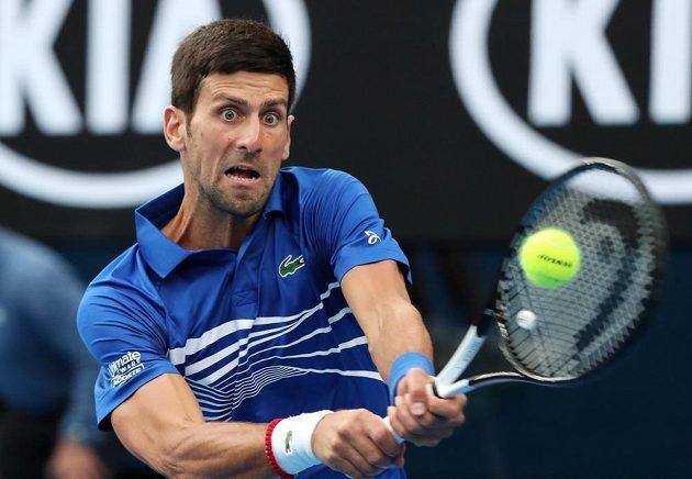 Srbský tenisový titán Novak Djokovič ve finále AO proti Nadalovi.