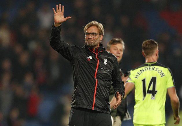 Spokojený kouč Liverpoolu Jürgen Klopp po výhře nad Crystal Palace.