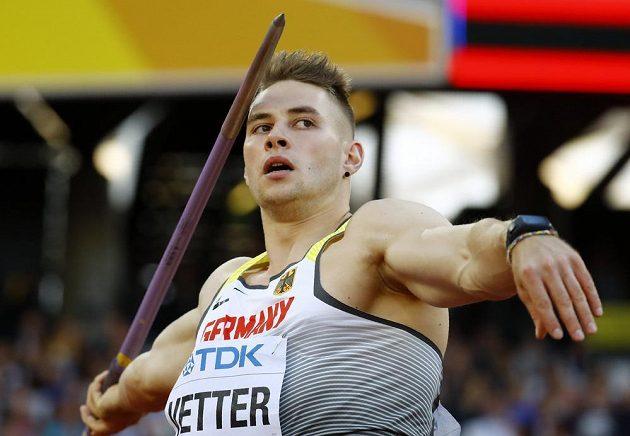 Německý oštěpař Johannes Vetter potvrdil v kvalifikaci roli jednoho z favoritů. Hned prvním hodem poslal své náčiní do vzdálenosti 91,20 metru.