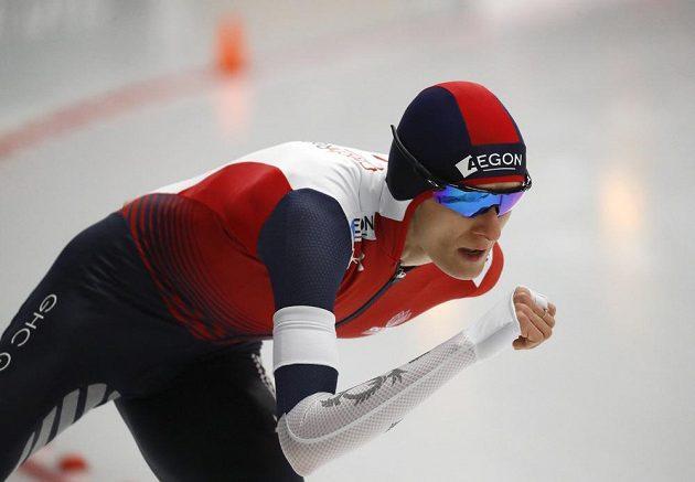 Martina Sáblíková na MS v Inzellu při závodě na 3000 m.