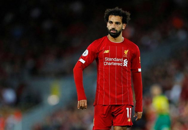 Liverpoolský kanonýr Mohamed Salah se v duelu s Norwichem zapsal mezi střelce.