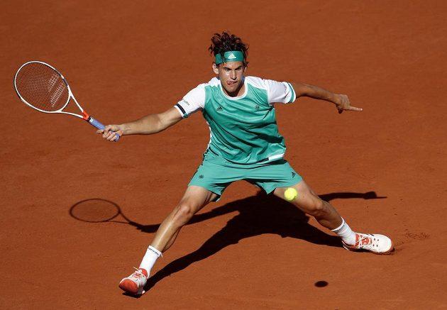 Plně koncentrovaný Dominik Thiem v semifinále French Open.