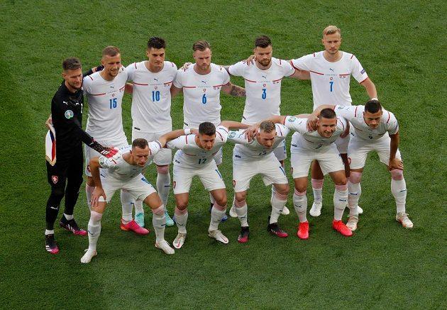 Český tým před zápasem s Nizozemskem