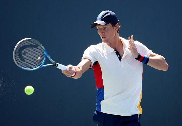 Český tenista Tomáš Berdych v úvodním kole US Open.