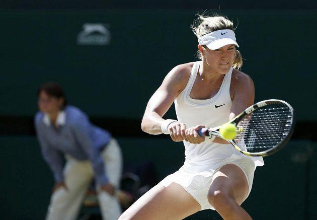 Kanadská tenistka Eugenie Bouchardová v semifinále Wimbledonu.