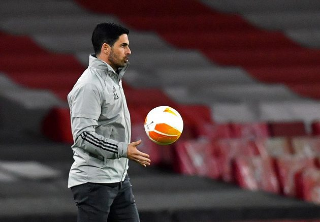 Manažer Arsenalu Mikel Arteta