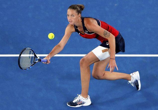 Karolína Plíšková v osmifinále Australian Open.