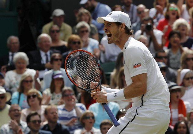 Radost v podání Andyho Murrayho.