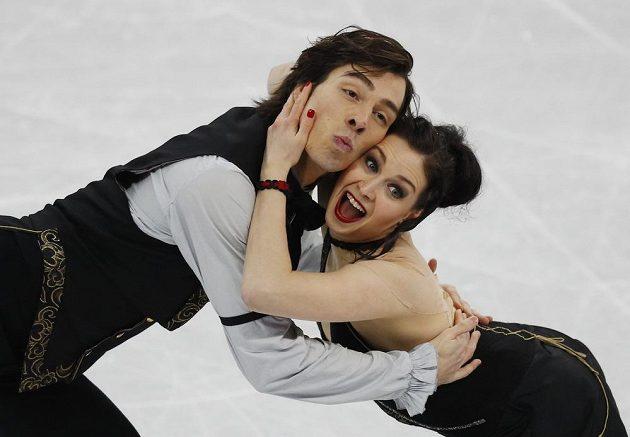 Slovenský taneční pár Lucie Myslivečková - Lukáš Csolley - v akci. Probojoval se mezi dvacítků párů, které tančily o medaile a dvojice si to na ledě moc užívala.